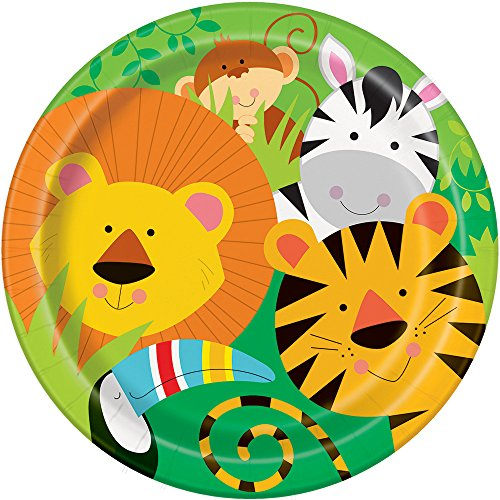 (Animal Safari Dinner Plates,)