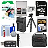Essentials Bundle for Fujifilm Instax SQ10 Instant Film & Digital Camera with 10 Prints + 32GB Card + Battery & Charger + Case + Tripod Kit