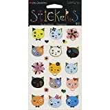 Mrs Grossman Cats Frilly Faces Stickers