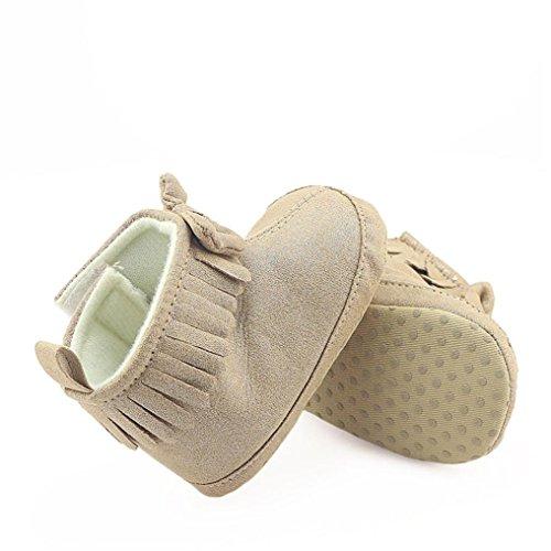 Stiefel Martin Krippe Winter Bowknot Clode® Schuhe Mädchen Warm Prewalker Baby Khaki Warm YZxzxT