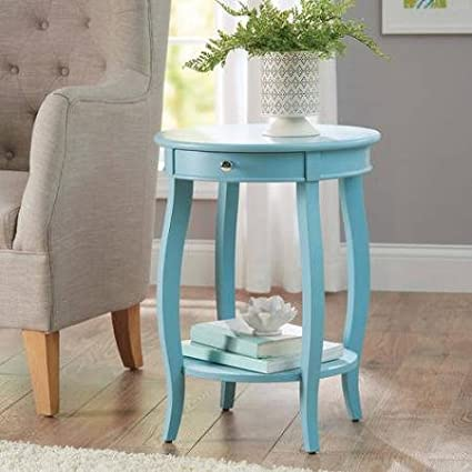 dfe3dceee8b Image Unavailable. Image not available for. Color  Better Homes and Gardens  Round Accent Table with Drawer ...