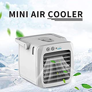 Portable Air Conditioner Fan Small Desktop, Personal Air Cooler Fan Room Humidifier For Office, Dorm, And More(white)