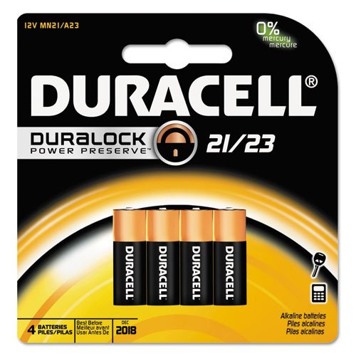 Reg Alkaline Batteries (Duracell MN21B4PK CopperTop Alkaline Batteries with Duralock 21/23 4/Pk)