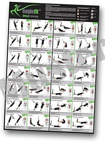 eaglefit Honda Zapatillas Poster práctica con 28 Ejercicios; 59,4 x 84 cm