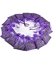 15Pcs Lavender Sachets Moth Repellant - Dried Lavendar Flower Sachet Bags for Home Fragrance and Long-Lasting Fresh Scents, Natural Moths Repellent for Clothes Closets. Protect & Defend Clothing