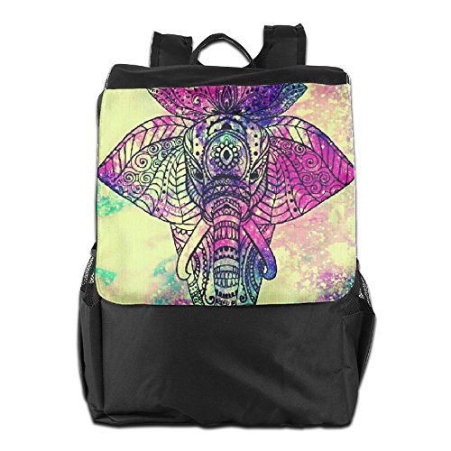 School Adjustable Women Personalized Outdoors for Travel Strap Elephant Storage Backpack Glitter and Shoulder Men Dayback HSVCUY Camping w8XHnqqS