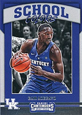 2017-18 Panini Contenders Drafts Picks School Colors #16 Bam Adebayo Kentucky Wildcats Rookie Basketball Card