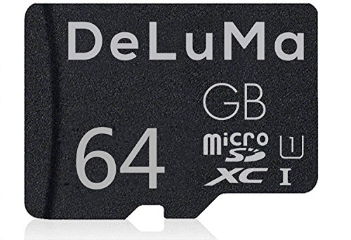 Deluma 64GB Micro SD Card High Speed Micro SDXC Class 10 Memory Card with Adapter For Phones, Tablets, and PC (64GB) by Deluma