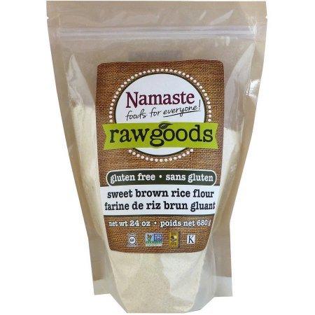 - Namaste Foods Raw Goods Gluten Free Sweet Brown Rice Flour, 24 oz