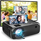 Wi-Fi Mini Projector, Bomaker Portable Projector for Outdoor Movies, 6000 Lux, Full HD 1080P Supported Outdoor Movie Projectors, Wireless Mirroring, for iPhone / Android / Laptops / PCs / Windows