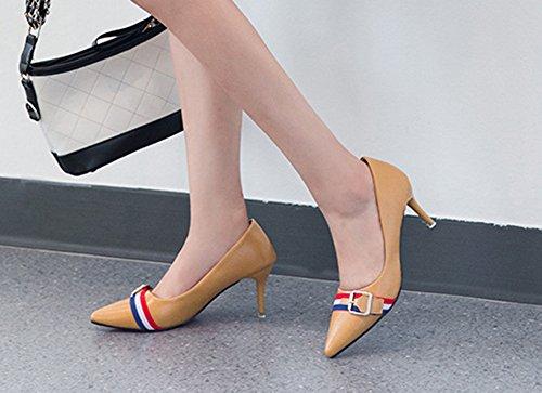 Mode Pointue Jaune Aisun Nouveau Style Escarpins Basse Femme BqcT5