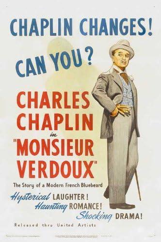 Amazon.com: Monsieur Verdoux POSTER Movie (27 x 40 Inches - 69cm x 102cm) ( 1947) (Style B): Posters & Prints