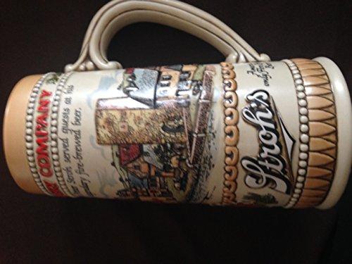 Strohs 1985 Heritage Series II Beer Stein Mug Tankard Ceramarte Brazil Stoneware ()