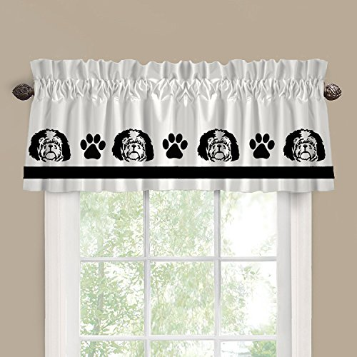 Shih Tzu Puppy Dog Face Window Valance / Window Treatment - In Your Choice of Colors - Custom Made Shih Tzu Face
