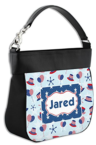 Leather Hobo Trim Purse Front w Genuine Patriotic Celebration Personalized CfwqxR1