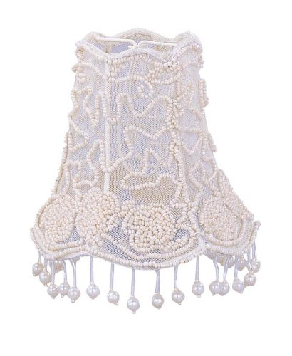Crystorama 2SH, Pearl Beaded Lace Shade (Shade Beaded Mini)