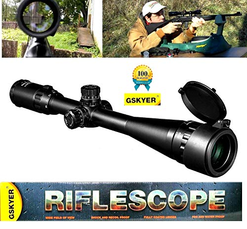 Gskyer Rifle Scope, 4-16X40AOGE BDC Reticle Tactical Turrets Crosshair Optics Gun Scope for Hunting Shooting Precision