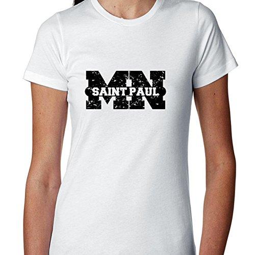 Hollywood Thread Saint Paul, Minnesota MN Classic City State Sign Women's Cotton -