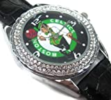 Happy New Year Gifts USFS147 New Leather Crystal Watch / Boston Celtics Basketball