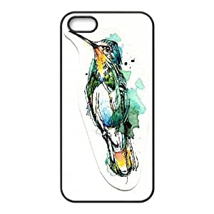 Hummingbird Art Pattern Hard Plastic Back Phone Case For Iphone 5,5S Case TSL319615