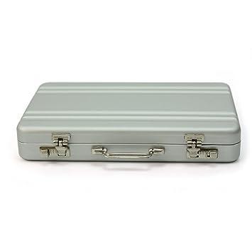 Durable Mini Aluminum Metal Briefcase Suitcase Business Name Card Holder Case
