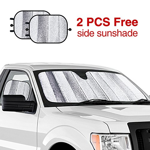 Modokit 5 Layers Windshield Sun Shade for Ford F150 2015-2018 Truck 600D  Oxford Fabric Sun Shade UV Reflector with 2 Sun Shades for Car Window - Buy  Online ... 227d4c490c4