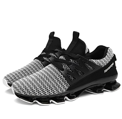 39 running gray increase shoes mesh shoes sneakers WSK casual size 47 Men's men's breathable cushioning 39 Wg1xFwZ0q