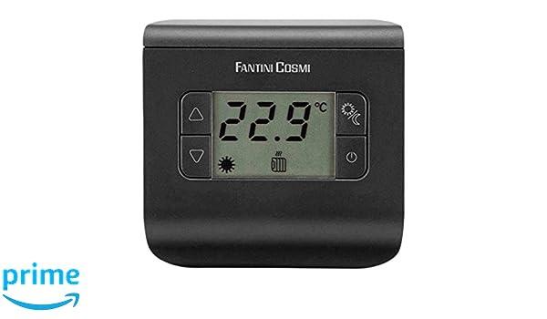 Color Gris Antracita CH117 Fantini Cosmi 3 temperaturas Termostato Ambiente a Pilas