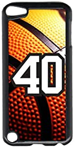 Basketball Sports Fan Player Number 40 Black Plastic Decorative iPod iTouch 5th Generation Case