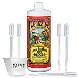 Fox Farm Big Bloom Quart Organic Fertilizer, Liquid Concentrate Nutrients Improves Plant and Flower Growth, Stronger Flavors in Fruits Vegetables with 5 Pipettes and 4 oz Hydro Empire Measuring Cup
