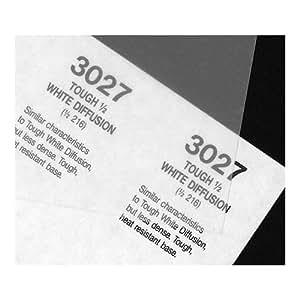 "Rosco Cinegel 1/2 Tough White Diffusion, 20"" x 24"" Sheet of Light Diffusing Material"