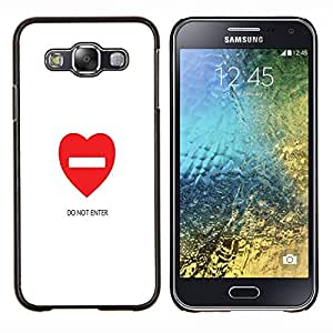 Dragon Case - FOR Samsung Galaxy E5 E500 - do not ented - Caja protectora de pl??stico duro de la cubierta Dise?¡Ào Slim Fit