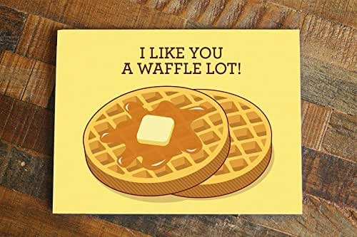 Amazon.com: Waffles card - I Like You a Waffle Lot Pun