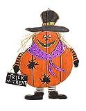 YK Decor Halloween Scarecrow Door Hanging Decoration (Orange)