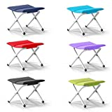 Folding Camp Stool Holds up to 220 LBS, Light and portable Rambler Stool Perfect Companion to Hiking Alone or with Friends,with Thickened Material,Black