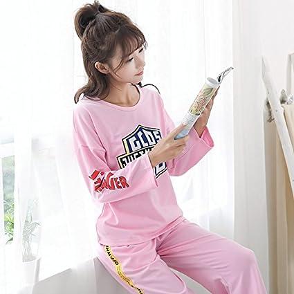 MH-RITA Pijama Mujer mangas largas series de versión delgada de la versión coreana de