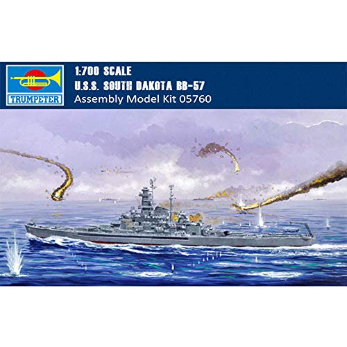 (Trumpeter 05760 U.S.S. South Dakota BB-57, 1/700 Scale Plastic Model Kit)