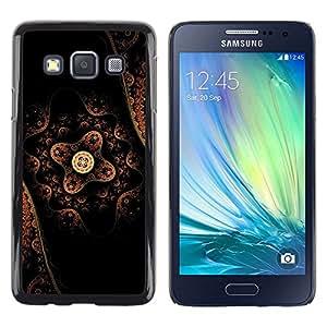 TopCaseStore / la caja del caucho duro de la cubierta de protección de la piel - Pattern Art Oriental Traditional Native Flower - Samsung Galaxy A3 SM-A300