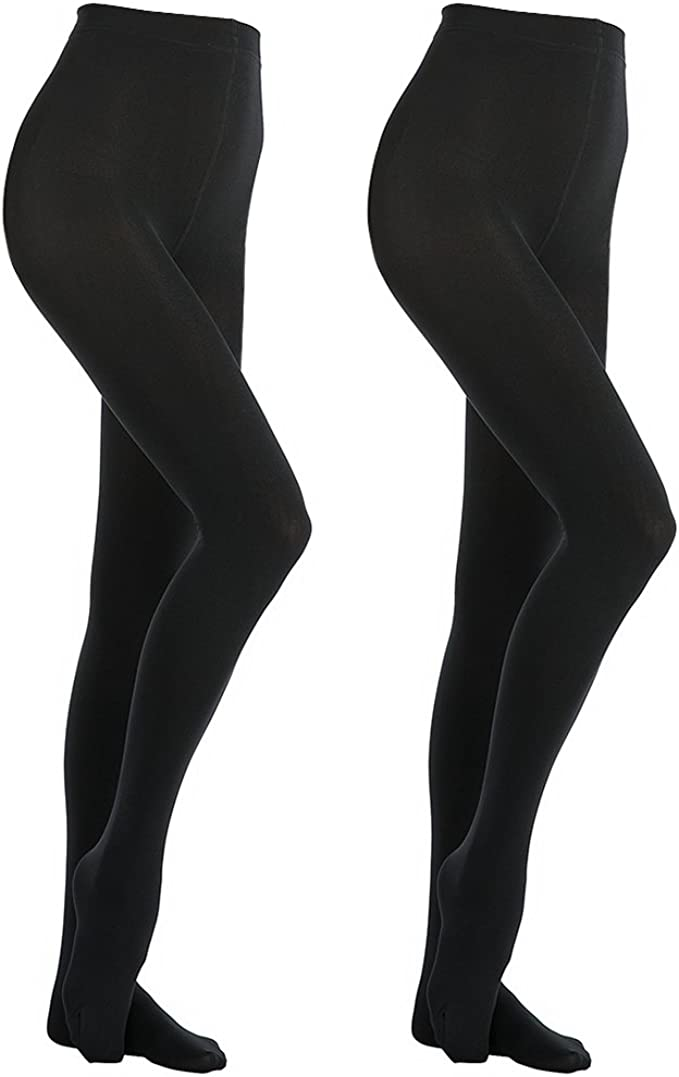 XL ONLY £2.99 LADIES SUPER SOFT THICK BLACK TIGHTS SIZES S L M