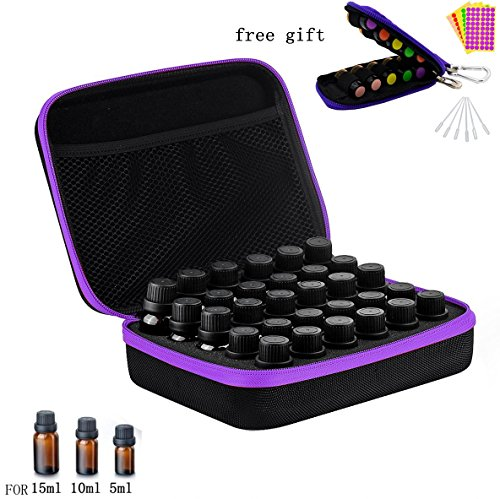 30 Bottles EVA Essential Oil Carrying Case, Hard Shell Exter
