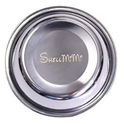 Dog And Cat Stainless Steel Double Diner Food Water Bowl Blue Small