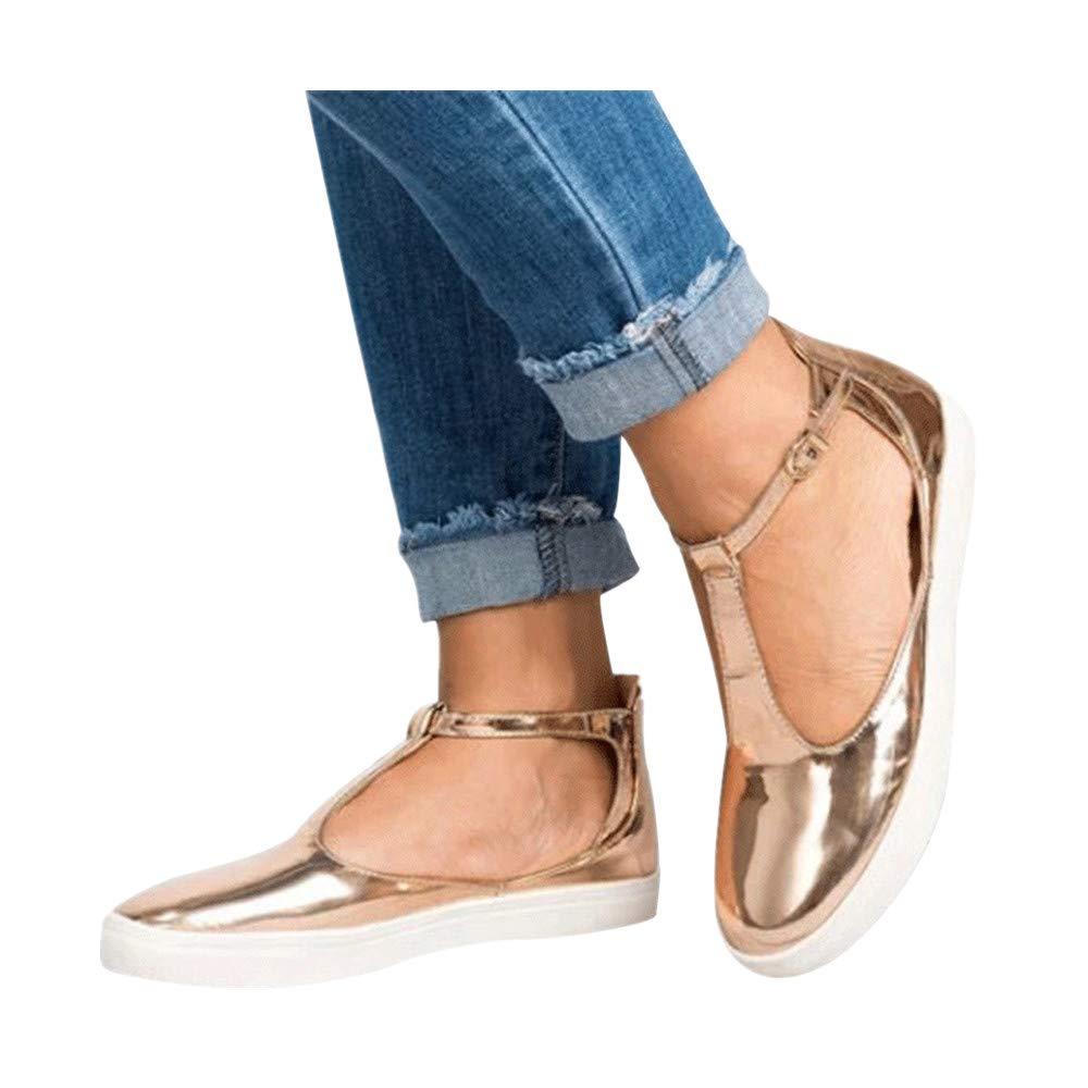 Damen Vintage Schuhe FORH Flache FreizeitschuheOut Schuhe