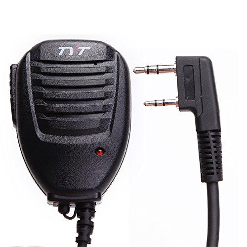 Original TYT Two Way Radio Handheld Speaker Mic Microphone with Indicator Light For Tytera Walkie Talkie TH-UV8000E TH-UV8000D TH-UVF1 TH-F8 TH-UVF9D MD-380 MD-390 etc.