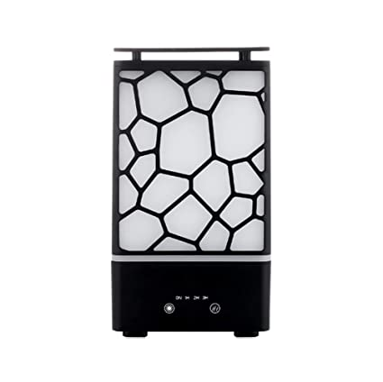 Máquina de aromaterapia de cubo de agua Aceite esencial Dispensador de aerosol ultrasónico LED de luz