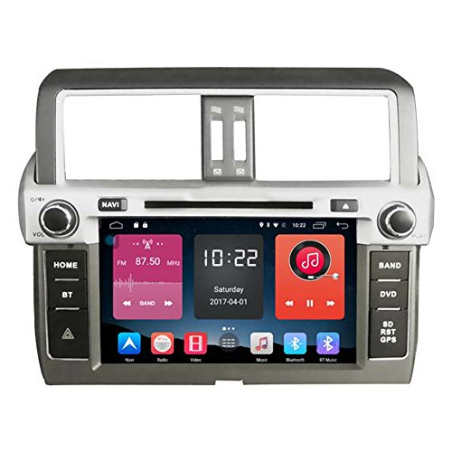 Autosion In Dash Android 6.0 Car DVD Player Sat Nav Radio Head Unit GPS Navigation Stereo for Toyota Prado 2014 2015 2016 2017 Support Bluetooth SD USB Radio OBD WIFI DVR 1080P by Autosion