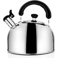 Tea Kettle for Stovetop Whistling Tea Pot, Stainless Steel Teakettle Tea Pots for Stove Top, 3.2QT(3-Liter) Large…