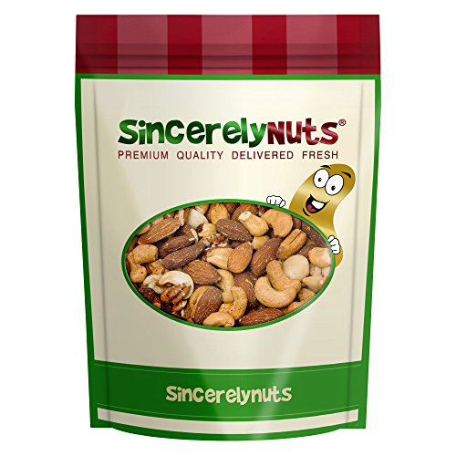Price comparison product image Sincerely Nuts Mixed Nuts Unsalted (No Shell) - One Lb Bag - Almonds,  Cashews,  Brazil nuts,  Pecans,  Filberts,  Walnuts,  Macadamia Nuts - Utterly Delicious - Overflowing with Healthy Nutrients - Kosher