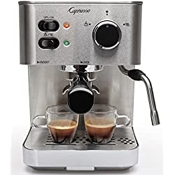 Capresso 118.05 EC PRO Espresso and Cappuccino Machine, New, Silver