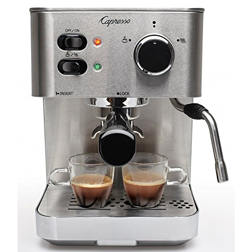 Capresso 118.05 Espresso and Cappuccino Machine, New, Silver