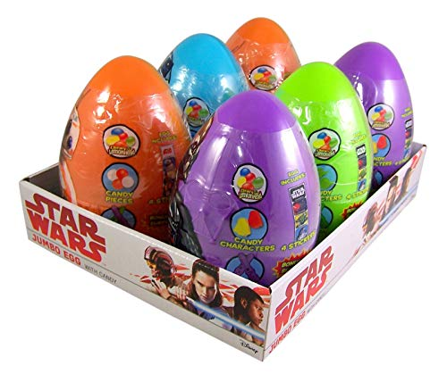 Star Wars Assorted Jumbo Egg with Candy, Pack of -
